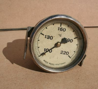 MotoMeter Temperaturanzeige Thermometer 100-220 °C altes Instrument Oldtimer