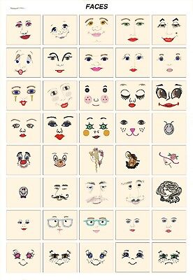 FACES. CD or USB machine embroidery designs files many formats pes hus jef etc