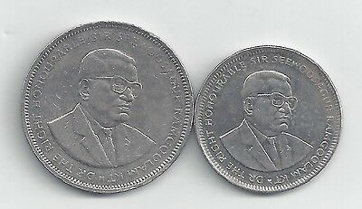 2 DIFFERENT COINS from MAURITIUS - 1 & 5 RUPEE (BOTH DATING 2010)