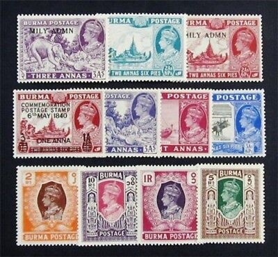 nystamps British Burma Stamp # 34 // 65 Mint OG $62