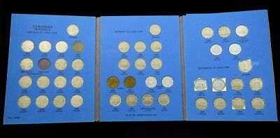 45 Coin Set 1922-1960 Canadian Nickels Collection -Avg Circ or Better- w/1925