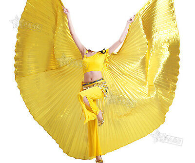 Egyptian Egypt Belly Dance Costume ISIS WING Dancing Dress Wear Gold Non-split
