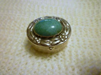 Vintage Iguala Mexico 925 Sterling Silver Hinged Snuff Pill Box