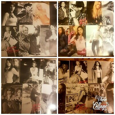 Huge Lot 166 Vintage Ad GUESS Claudia Schiffer Sexy Photographer Anna Nicole