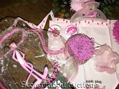 NEW Years Ago Blockbuster PINK PANTHER Clear Bag Bandana Clip Scrunchies Etc