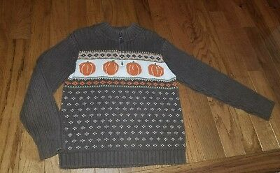 Boys Janie And Jack Pumpkin Patch Fall Thanksgiving Sweater 5t