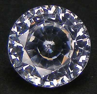 30% Reduction Top Qualite Taille Ronde 9,6 Mm. Saphir Blanc Corindon De Synthese