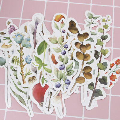 30pcs/box Cute Vintage Plant Branches Flower Bookmark Paper School Book Reading