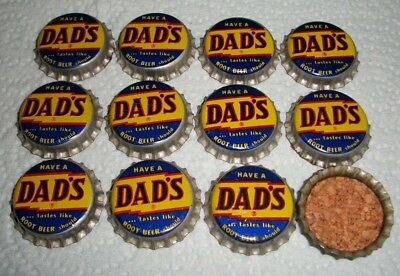 (6) Unused NOS 1950/60s Dads Root beer Cork Soda Bottle Caps *HAVE A DADS* A