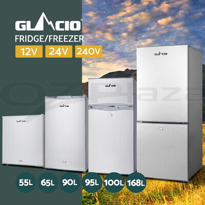 Glacio 55/65/100/168L Portable Bar Fridge Freezer Cooler 12V/24V/240V Camping