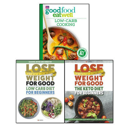 Anonymous Good Food Cookbook Recipes Low-Carb Cooking 3 Books Collection Set