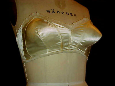 VTG 1950s ERA BULLET BRA / STAPLESS WIRE by BRONZETTE, Sz 36B, SEXY ROCKABILLY