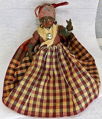"Vintage Aunt Jemima / Jamaican Black Americana Thin Celluloid 7"" Lady Doll"