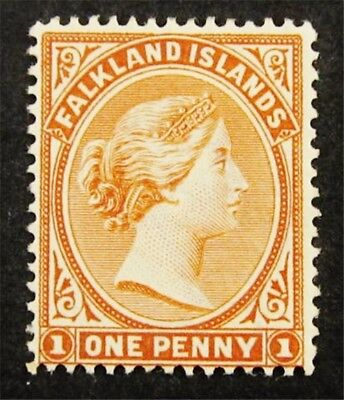nystamps British Falkland Islands Stamp # 11 Mint OG H $100