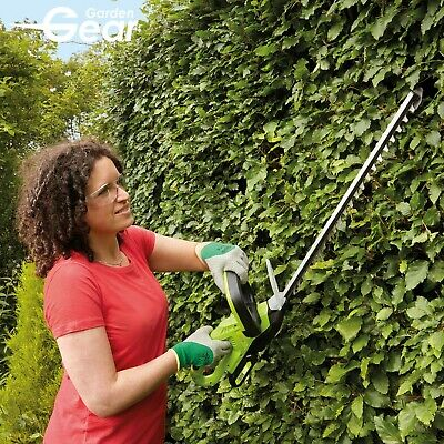 Cordless Hedge Trimmer Cutter 520mm Blade 20V Battery Powered Li-ion Garden Gear