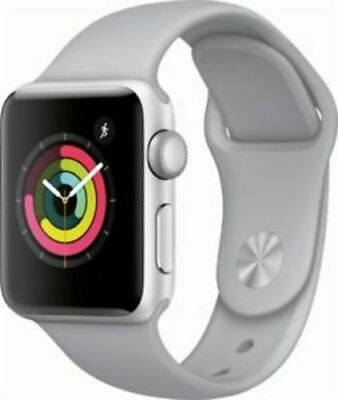 Apple Watch Series 3 38mm Smartwatch GPS Only - Silver Case/Fog Sport Band