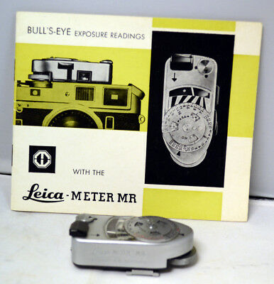 Leica Meter MR 4 Light Meter Chrome Works w/ Instructions             293