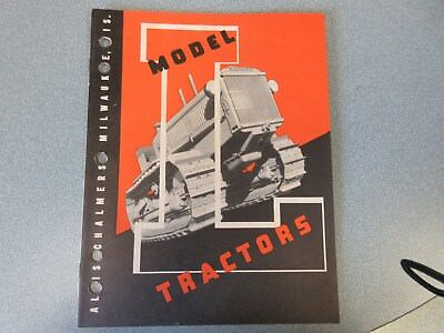 RARE Allis Chalmers L-O Crawler Tractor Brochure  1937, 40 Pages, Very Clean