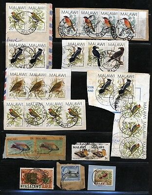 Malawi Issues Fine Used On Piece - Postmarks.       A201