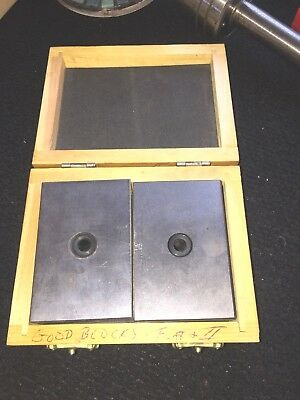 Fowler 1 2 3 Steel Blocks 52-439-001 Set In Wooden Case