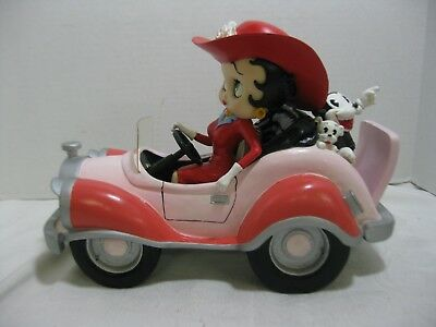 Betty Boop In Comic Car Bimbo and Pudgy 2002 Special Edition Large Display