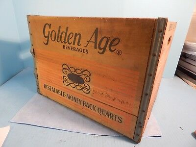 Vintage Wood Golden Age Pop Bottle Box Youngstown OH Deposit Crate Beautiful