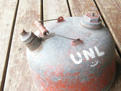 Wood Handle Gasoline Vintage Kerosene Oil Can Gas Can Metal Can 2 1/2 Gallons