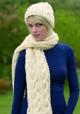 LADIES SUPER CHUNKY Hat & Scarf Knitting Pattern Stylecraft