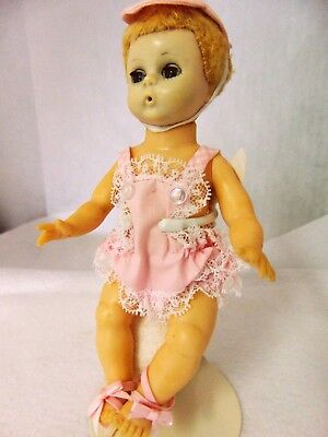 "Madame Alexander Doll Vintage 8"" With Puffy Beach Ball Tagged 1:18 Scale Collect"