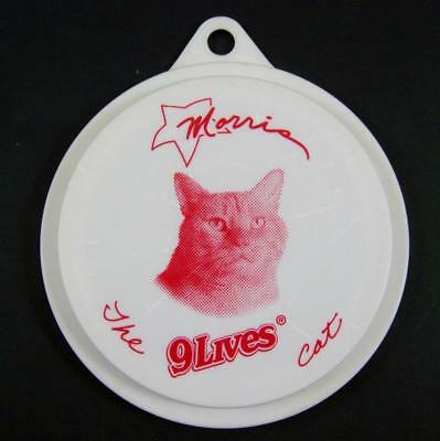 Morris the Cat 9 Lives Pet Food Can Cover Lid RARE Promo Plastic Fits 2 size can