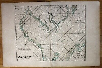 1745 South China Sea Cambodia Vietnam Borneo Malaysia sea chart map