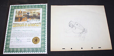 JERRY WEIST ESTATE: CARL BARKS drawing for MODERN INVENTIONS Donald Duck 1937