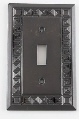LHMG Vintage Style Brass Single Toggle Switch Cover Plate.