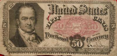 1875 U.S. 50 Cents Fractional Note
