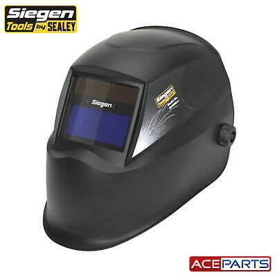 Sealey S01000 Shade 11 Solar Powered Auto Darkening Welding Helmet Shade MIG ARC