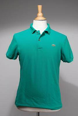Lacoste Green Tweed Cotton Slim Fit Polo Shirt Size 5