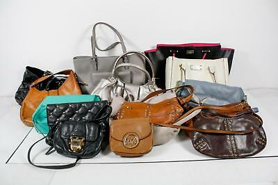 Lot of 15 Wholesale Leather Mixed Brands Michael Kors Kate Spade Bags