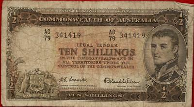 Australia 10 Shillings Note
