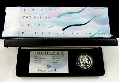 Australia 1993 Special Coin Fair Issue $1 Silver Proof Coin - RAM OGP