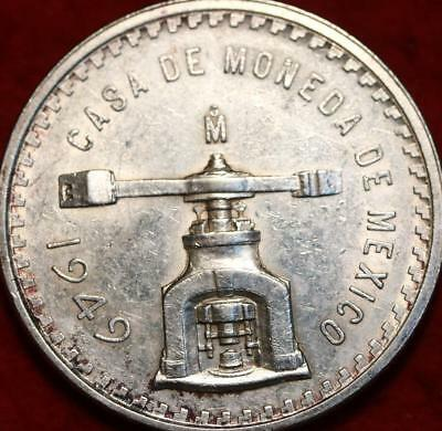 1949 Mexico Una Onza Troy .999 Silver Foreign Coin