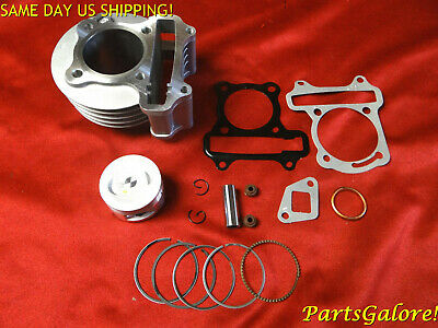 100cc 50mm Big Bore Cylinder Kit, w/ studs, nuts & valve seals GY6 50cc Scooter