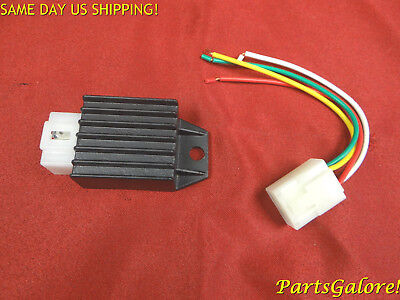 4 pin AC fired Voltage Regulator w/ repair plug GY6 50cc 125cc 150cc Scooter ATV