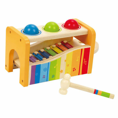 Hape Toys Early Melodies Pound and Tap Bench (6 pieces)