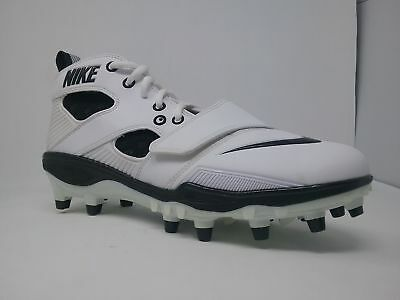 New Nike Zoom Huarache ll 419116 101 Mens 9.5 White/Black Molded Lacrosse Cleat