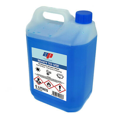 AP Automotive 5l Car Screen Wash Anti Freeze Top Up Water All Seasons Screenwash