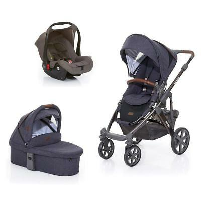 ABC Design Salsa 4 Pushchair, Carrycot (Street) & Car Seat (Cloud) SALE!