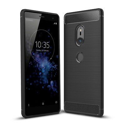 For Sony Xperia XZ2 Compact Shockproof Matte Soft TPU Slim Protective Case Cover