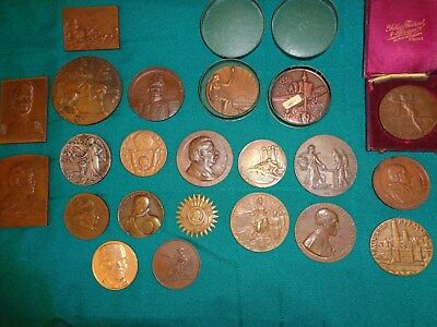 Twenty-Two Science And Industry -Related Bronze, Silver Medals Some Very Old
