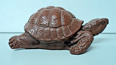 Turtle Statue Figurine Vtg Red Mill Mfg Handcrafted in USA 4 inches x 2 inches