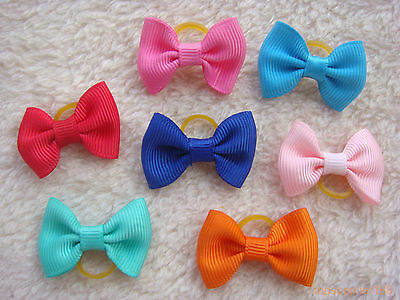 200 dog cat puppy hair bow wholesale lots of headdress hairpin pets gift #a17